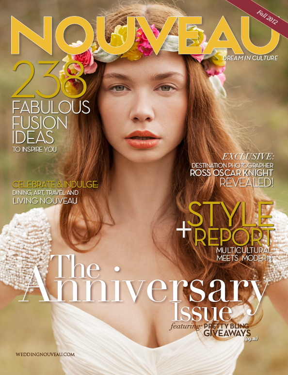 WEDDING NOUVEAU MAG - Anniversary Issue - Complete Tear Sheets